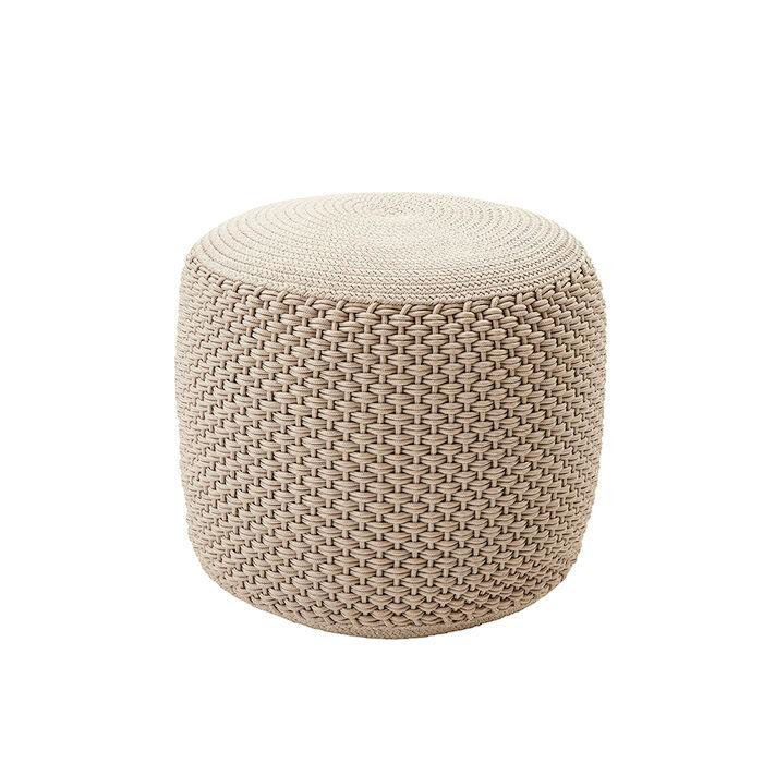 MEME DESIGN pouf pour extérieur BERENICE SMALL (Chanvre - Tissu)