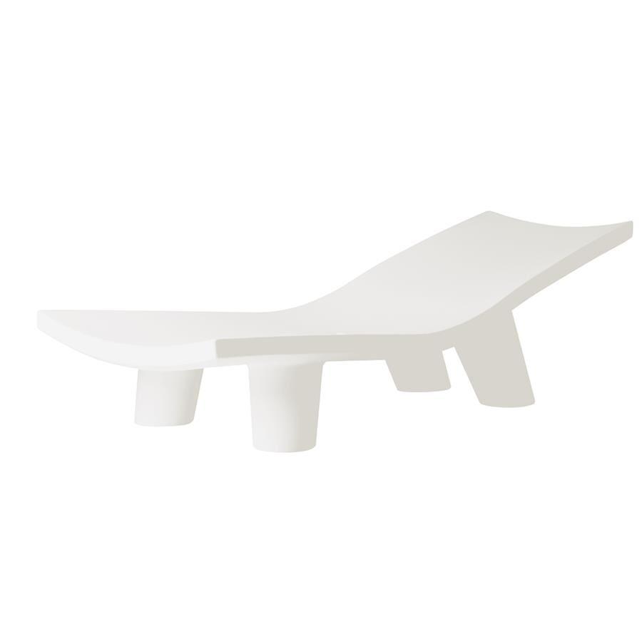SLIDE chaise longue pour extérieur LOW LITA LOUNGE (Blanc lait - Polyéthylène)
