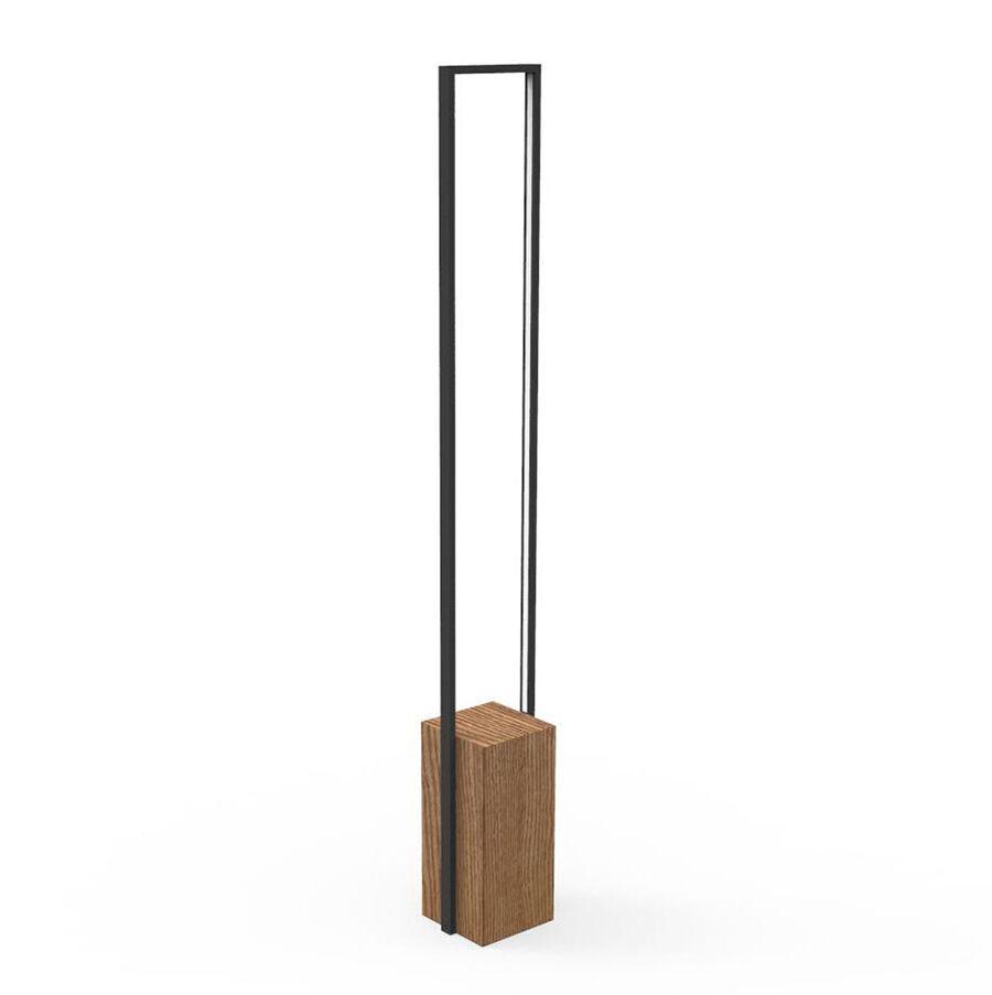 TALENTI lampadaire d'extérieur CASILDA Collezione Icon (Graphite - Acier peint et bois de pierre)