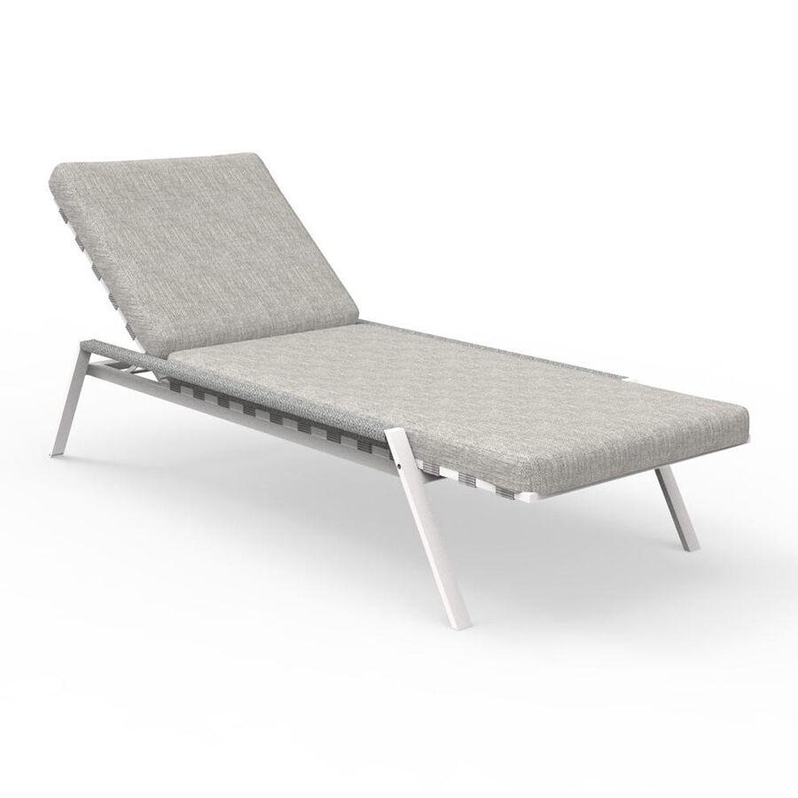 TALENTI bain de soleil d'extérieur COTTAGE Collection Icon (White / Light grey - Tissu et aluminium peint)