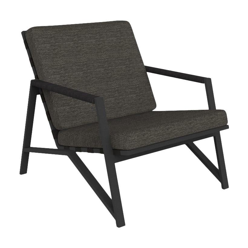 TALENTI fauteuil d'extérieur COTTAGE Collection Icon (Graphite / Dark grey - Tissu et aluminium peint)