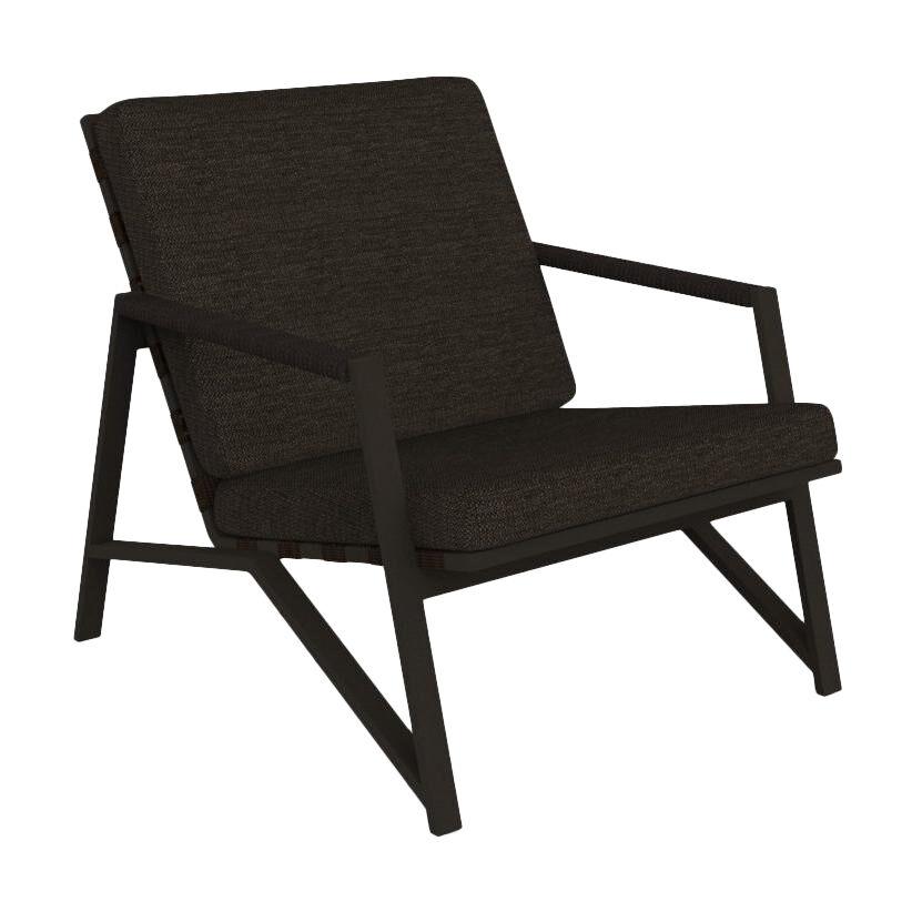 TALENTI fauteuil d'extérieur COTTAGE Collection Icon (Mokka / Dark brown - Tissu et aluminium peint)