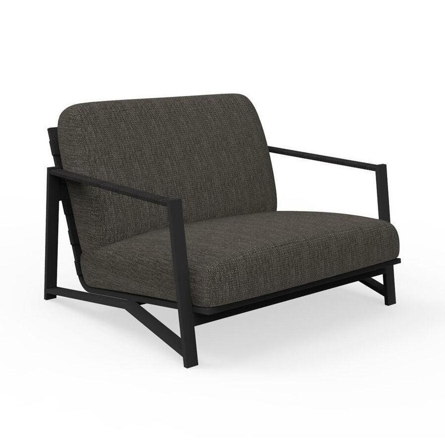 TALENTI fauteuil luxury d'extérieur COTTAGE Collection Icon (Graphite / Dark grey - Tissu et aluminium peint)