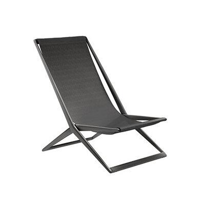 TRIBÙ transat chaise de plage d'extérieur BRANCH (Wengé - Aluminium et tissu Batyline)