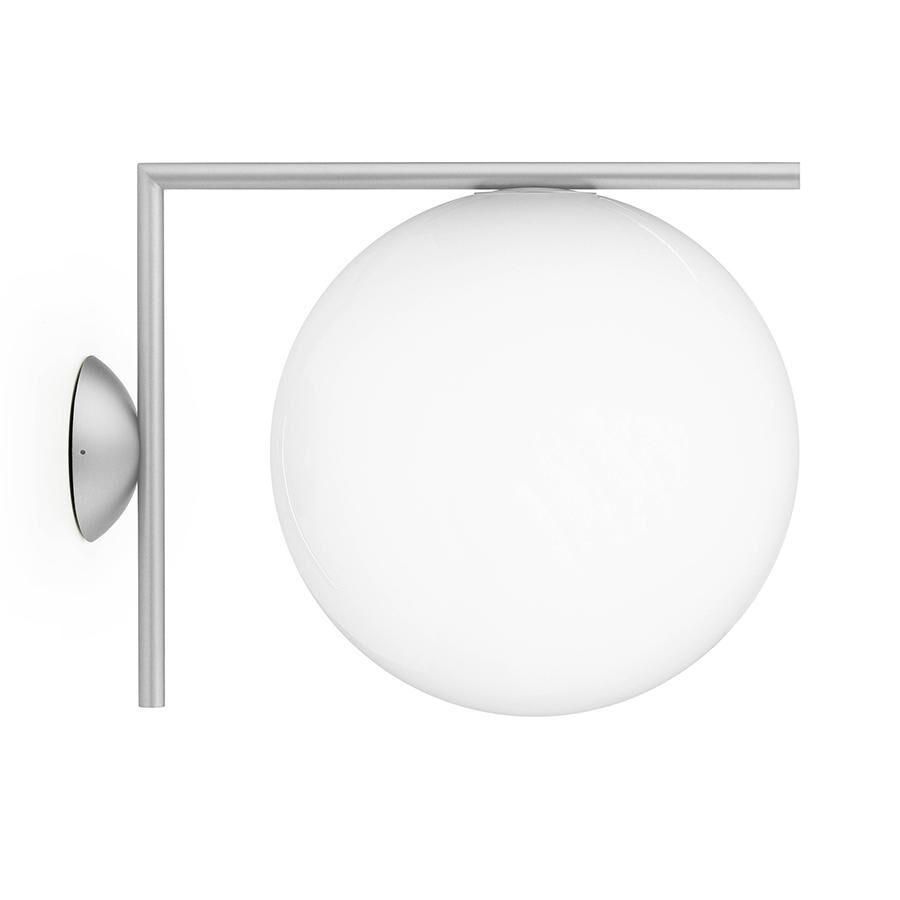 FLOS lampe murale ou au plafond d'extérieur IC C/W2 OUTDOOR (Acier inox - Verre soufflé et métal)
