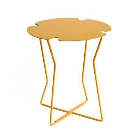 MEME DESIGN table basse pour extérieur COROLLA OUTDOOR (Jaune Maya - Métal)
