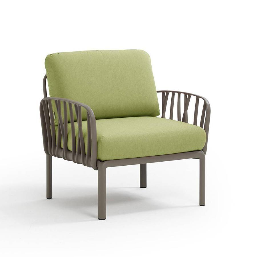 NARDI GARDEN NARDI fauteuil pour l'extérieur KOMODO (Tortourelle / Avocat - Polypropylène fibre de verre et tissu Sunbrella)
