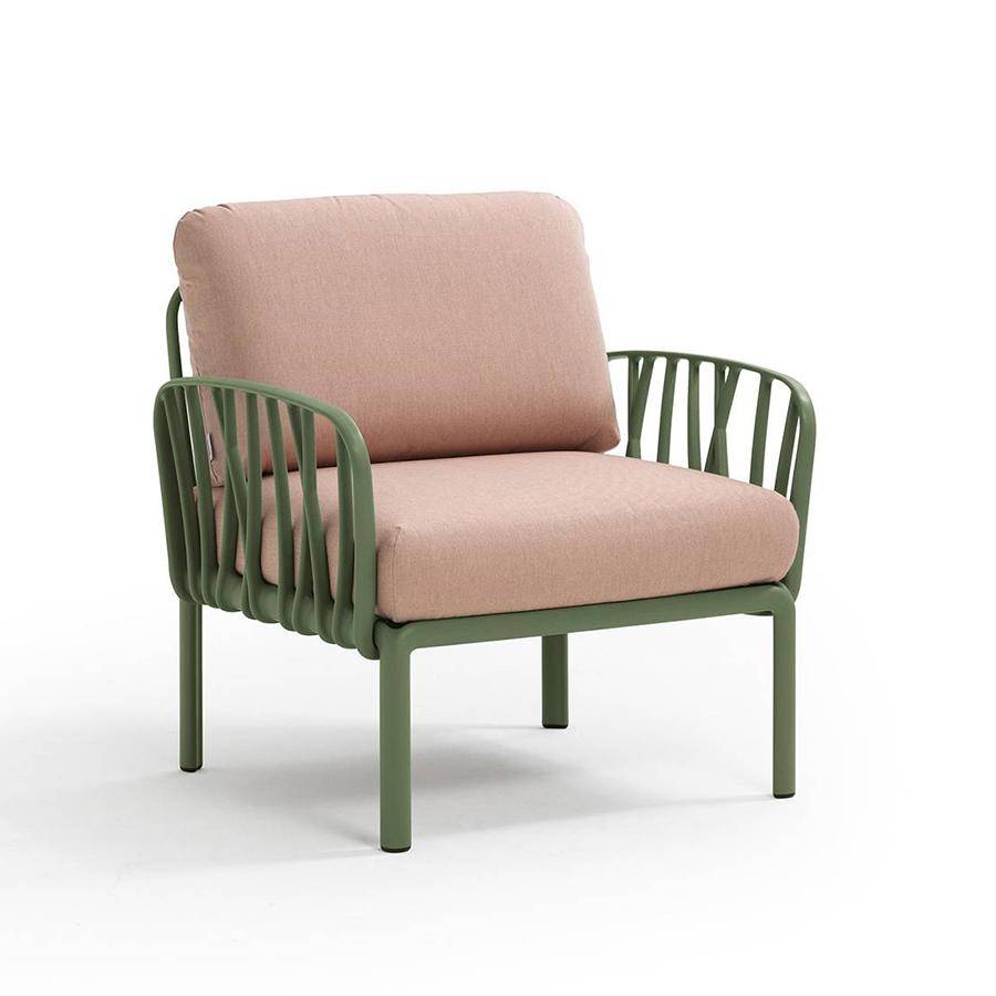 NARDI GARDEN NARDI fauteuil pour l'extérieur KOMODO (Agave / Rose quartz - Polypropylène fibre de verre et tissu acrylique)