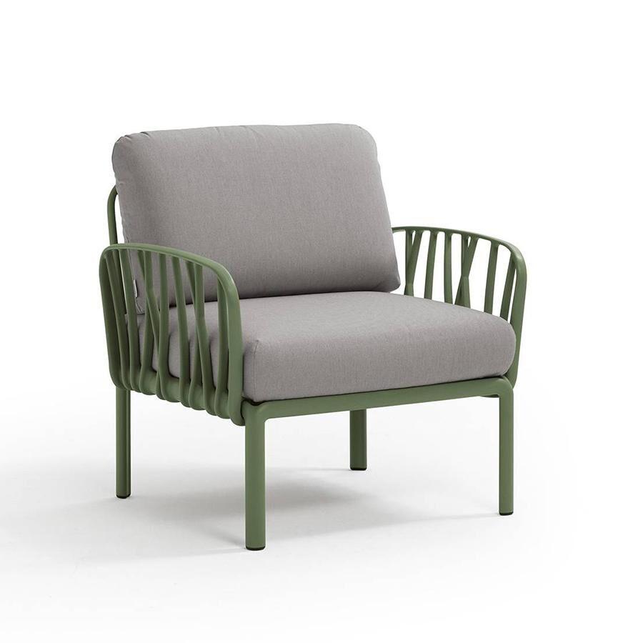 NARDI GARDEN NARDI fauteuil pour l'extérieur KOMODO (Agave / Gris - Polypropylène fibre de verre et tissu acrylique)