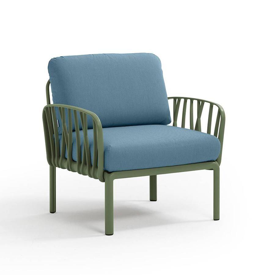 NARDI GARDEN NARDI fauteuil pour l'extérieur KOMODO (Agave / Adriatic - Polypropylène fibre de verre et tissu Sunbrella)