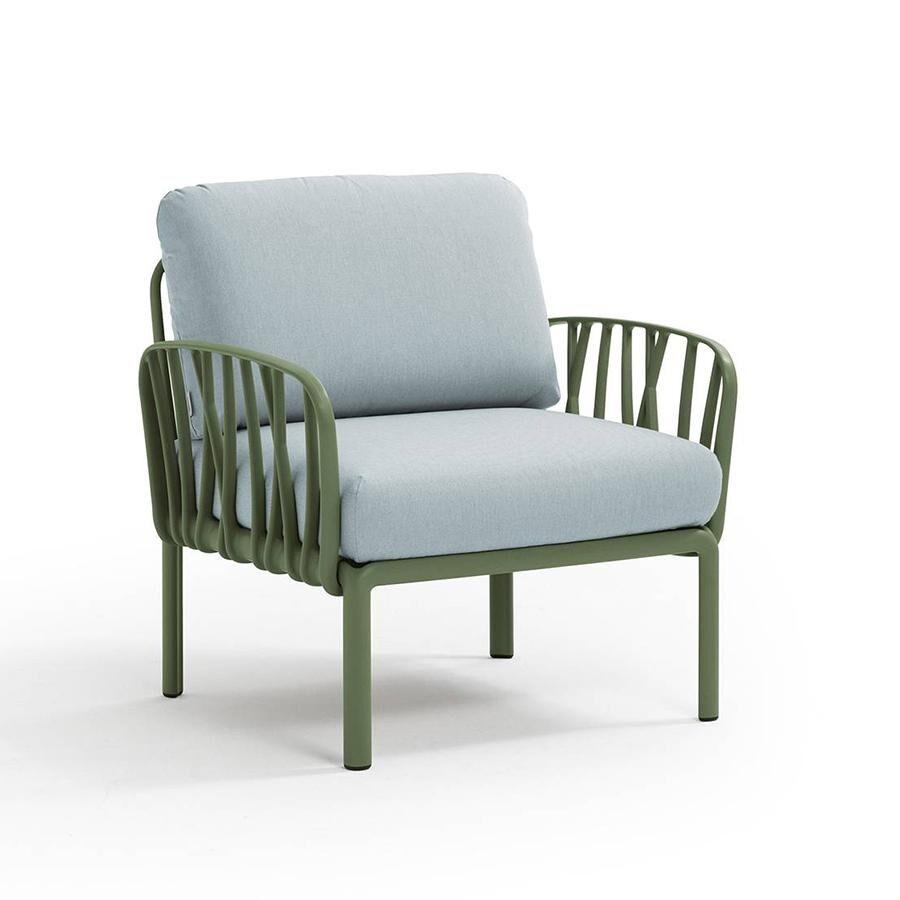 NARDI GARDEN NARDI fauteuil pour l'extérieur KOMODO (Agave / Glace - Polypropylène fibre de verre et tissu Sunbrella)
