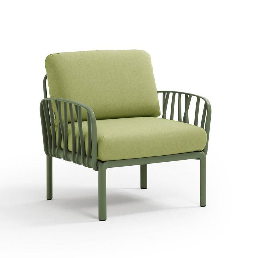 NARDI GARDEN NARDI fauteuil pour l'extérieur KOMODO (Agave / Avocat - Polypropylène fibre de verre et tissu Sunbrella)