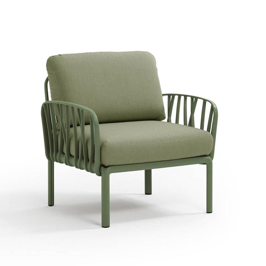 NARDI GARDEN NARDI fauteuil pour l'extérieur KOMODO (Agave / Jungle - Polypropylène fibre de verre et tissu Sunbrella)