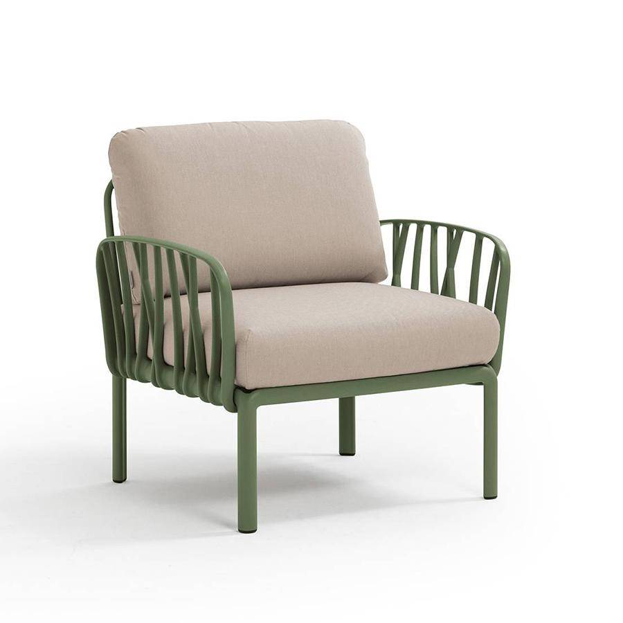 NARDI GARDEN NARDI fauteuil pour l'extérieur KOMODO (Agave / Canvas - Polypropylène fibre de verre et tissu Sunbrella)
