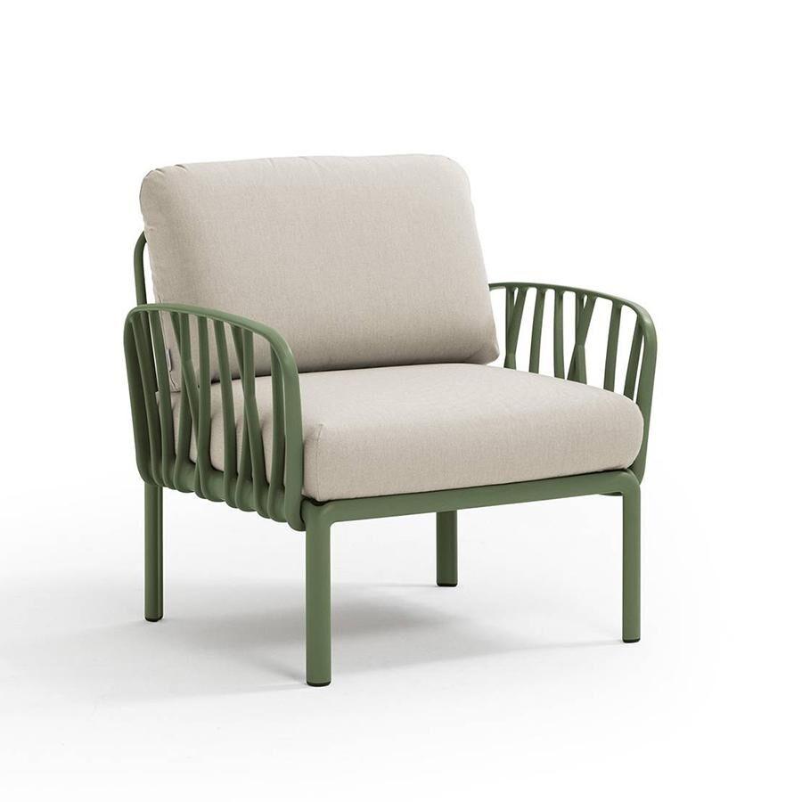 NARDI GARDEN NARDI fauteuil pour l'extérieur KOMODO (Agave / Panama - Polypropylène fibre de verre et tissu Tech)