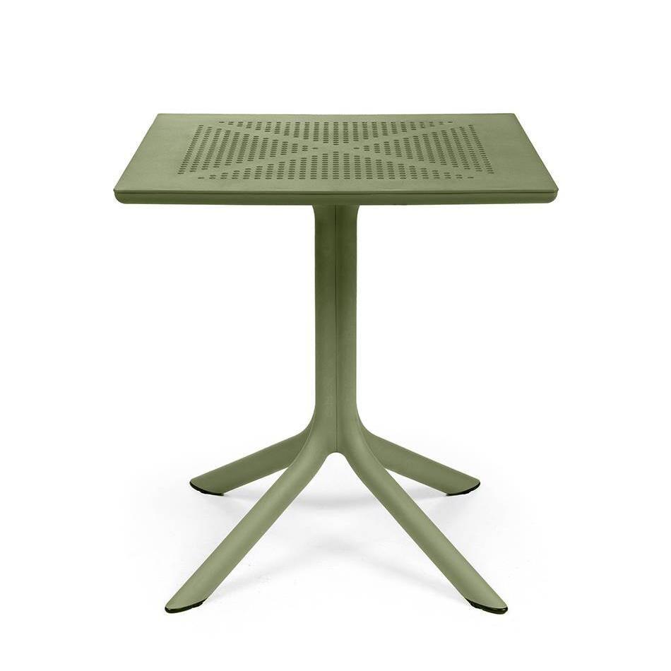 NARDI GARDEN NARDI table carré pour l'extérieur CLIP 70 (Agave - Fibre de verre polypropylène et DurelTOP)