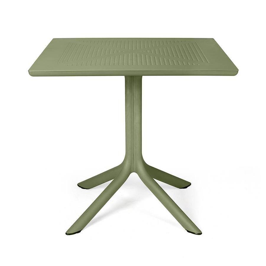 NARDI GARDEN NARDI table carré pour l'extérieur CLIP 80 (Agave - Fibre de verre polypropylène et DurelTOP)