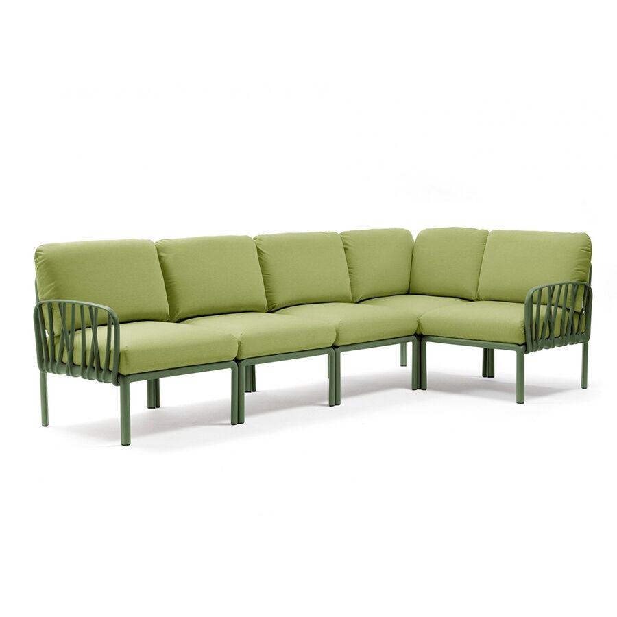 NARDI GARDEN NARDI canapé pour extérieur KOMODO 5 (Agave / Avocat - Polypropylène fibre de verre et tissu Sunbrella)
