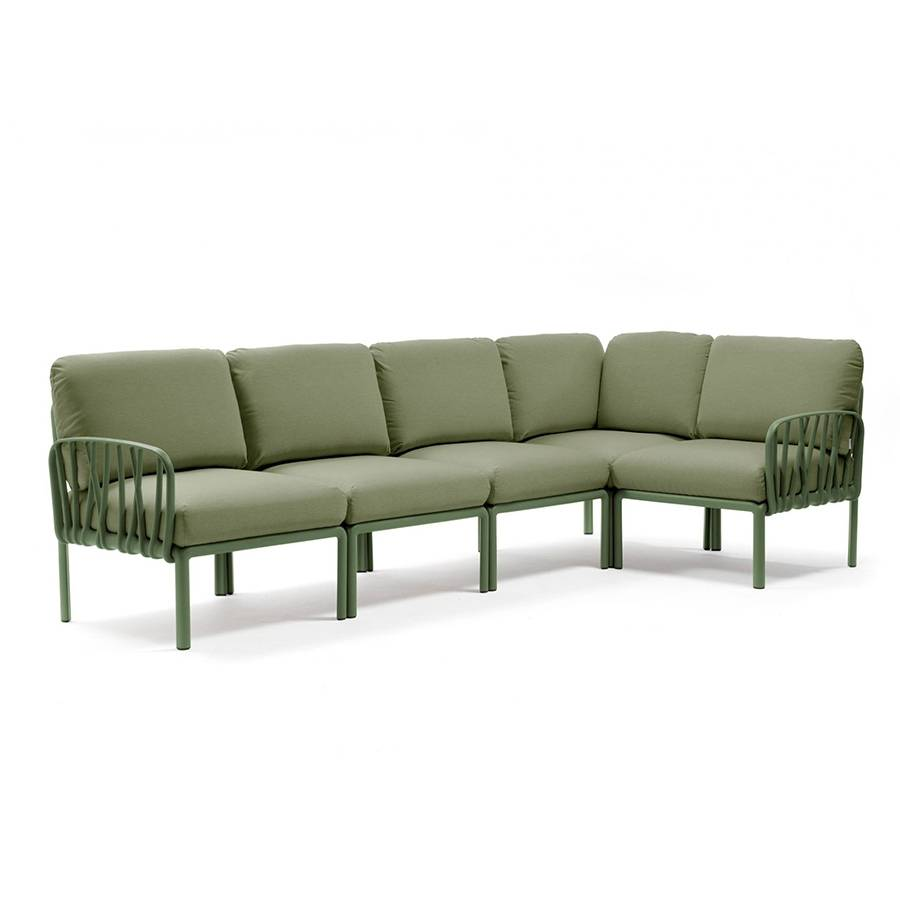 NARDI GARDEN NARDI canapé pour extérieur KOMODO 5 (Agave / Jungle - Polypropylène fibre de verre et tissu Sunbrella)