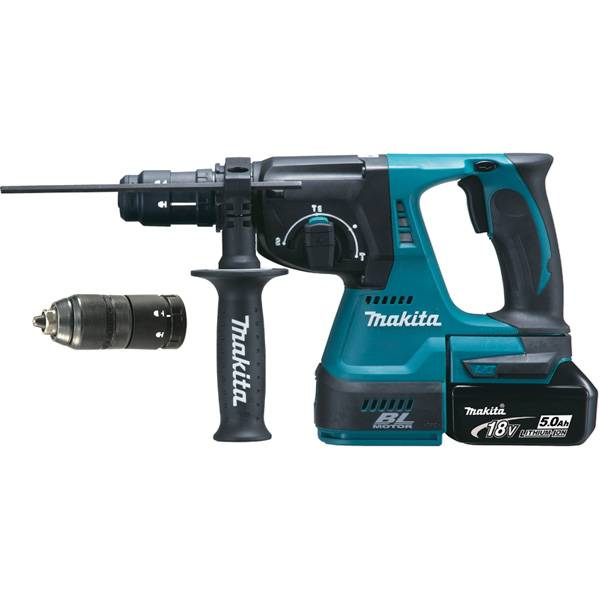 MAKITA Perforateur burineur Makita DHR243RMJV SDS-Plus 18 V Li-Ion 2 x5.0 Ah 2J moteur sans charbon