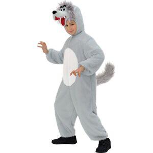 Deguisetoi Déguisement loup poils gris enfant - Taille: 5-7 ans (128 cm) - Publicité