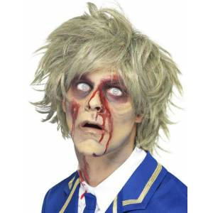 Deguisetoi Perruque courte blonde zombie homme Halloween - Publicité