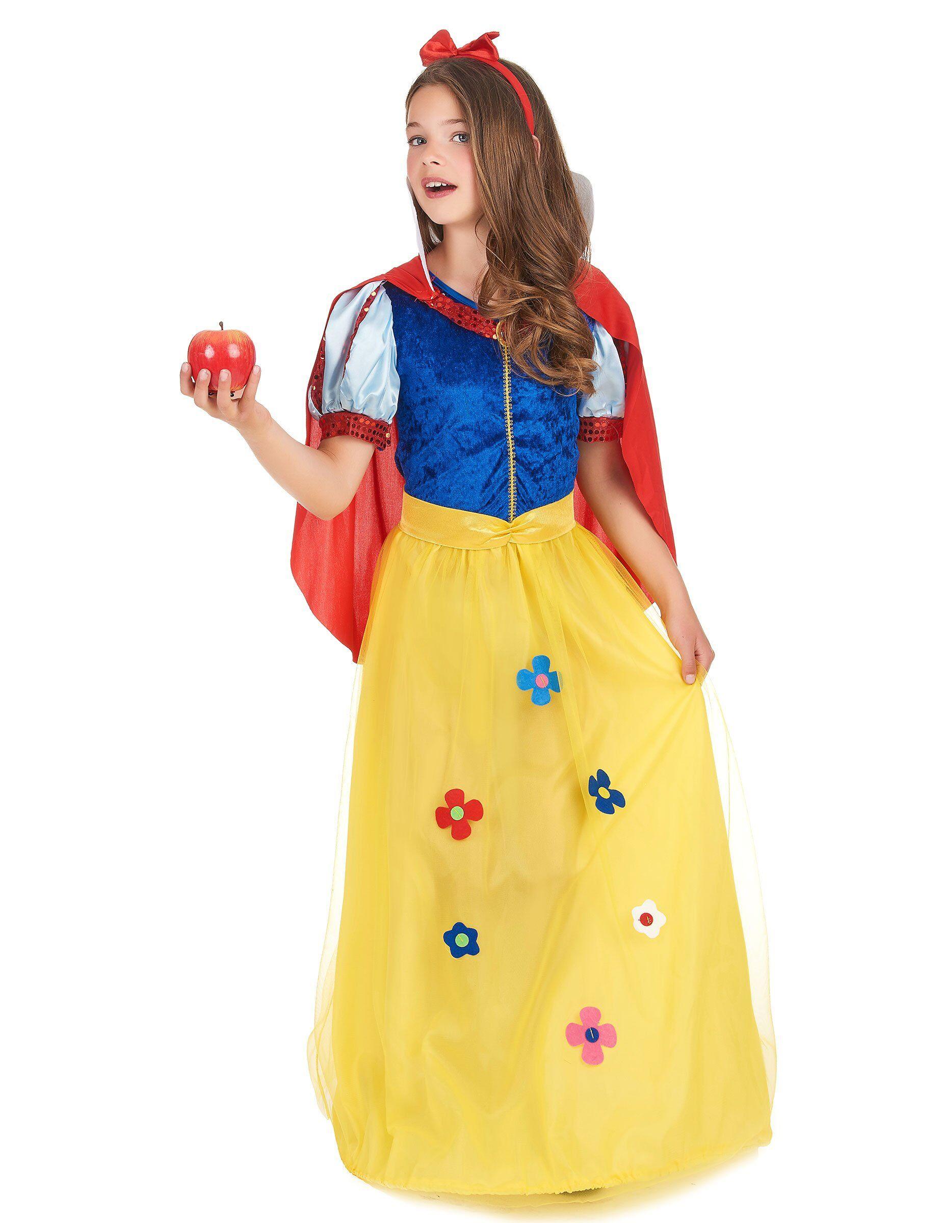 Deguisetoi Déguisement princesse à fleur fille - Taille: L 10-12 ans (130-140 cm)