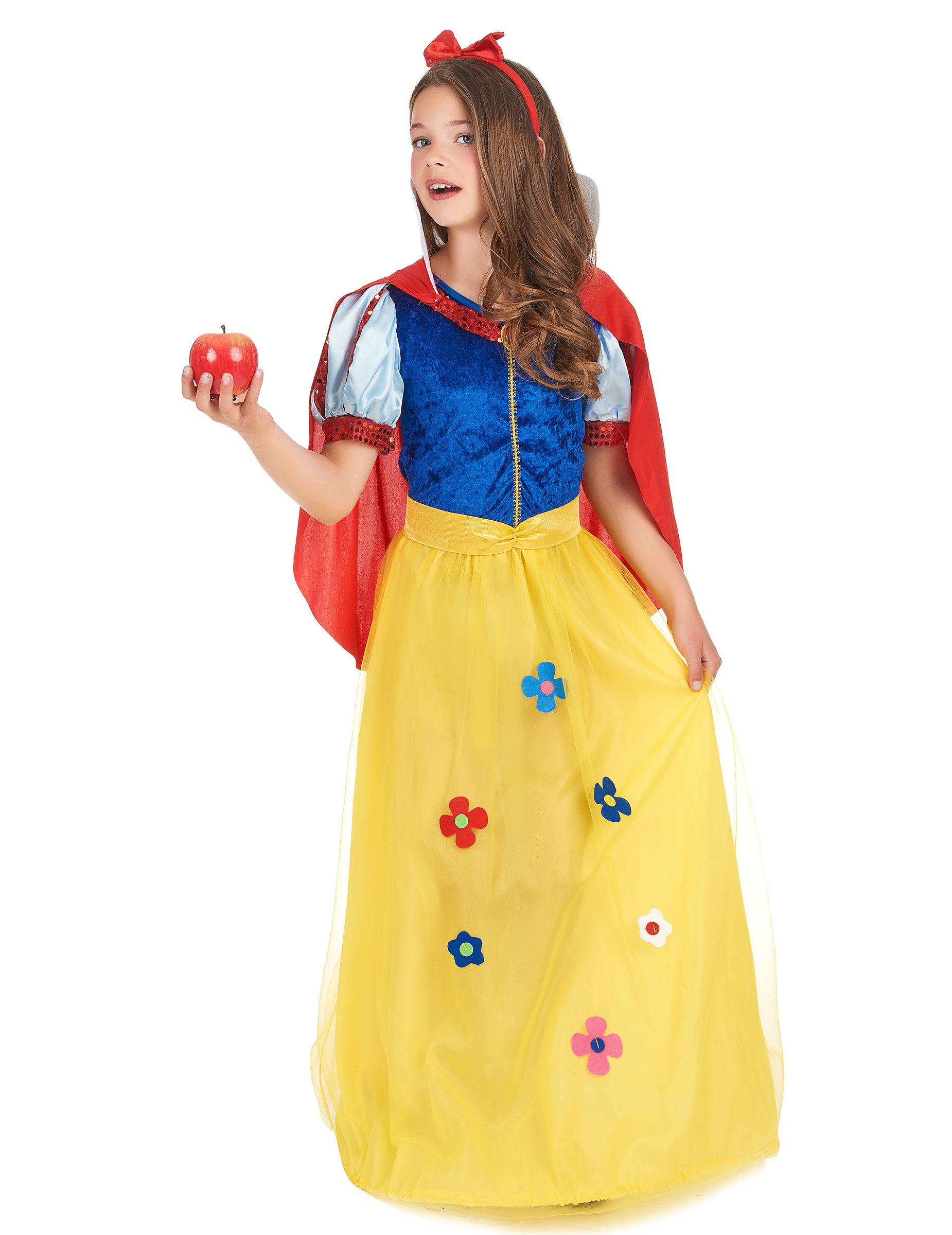 Deguisetoi Déguisement princesse à fleur fille - Taille: M 7-9 ans (120-130 cm)