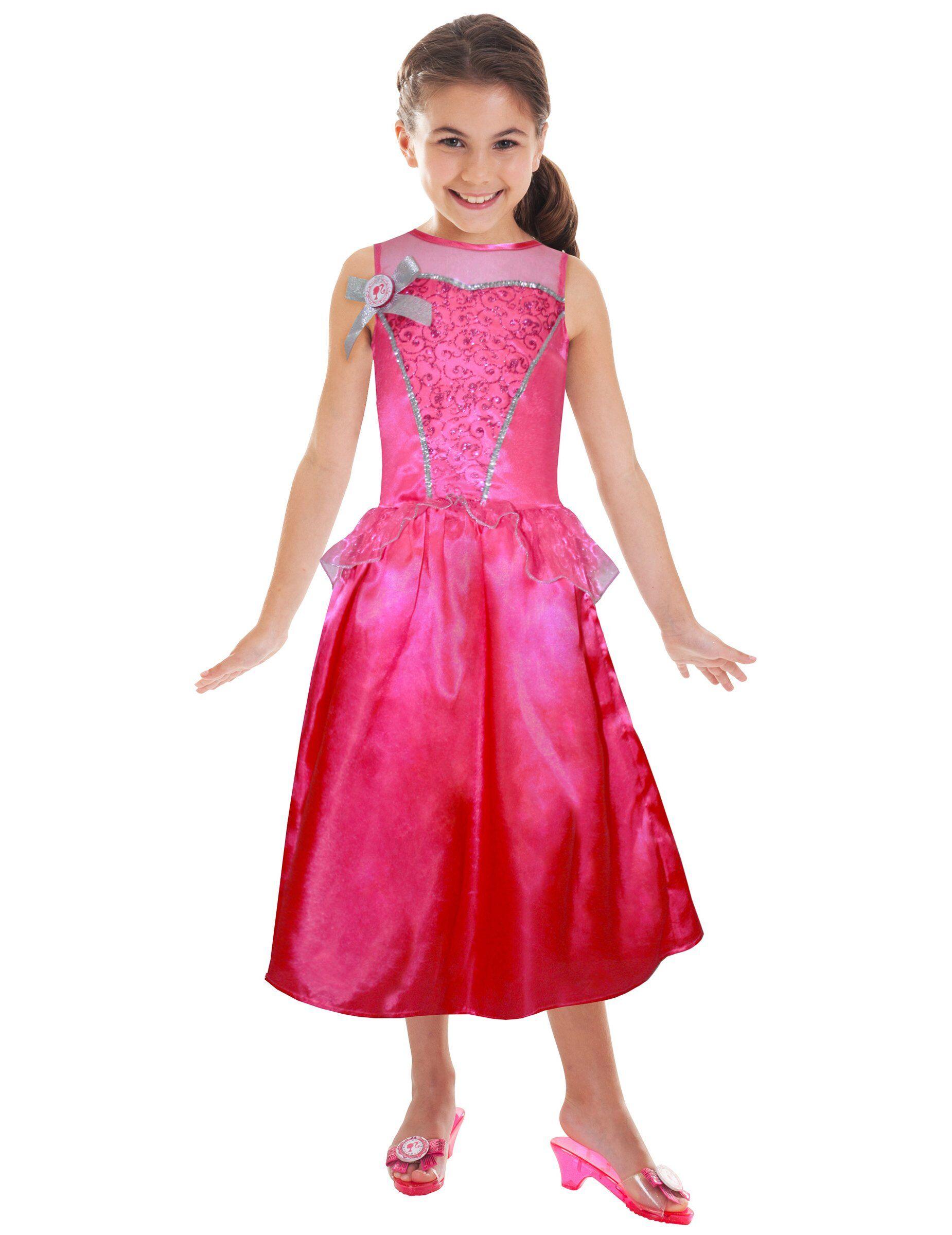 Deguisetoi Déguisement Barbie princesse à paillettes fille - Taille: 3-4 ans (94-104 cm)