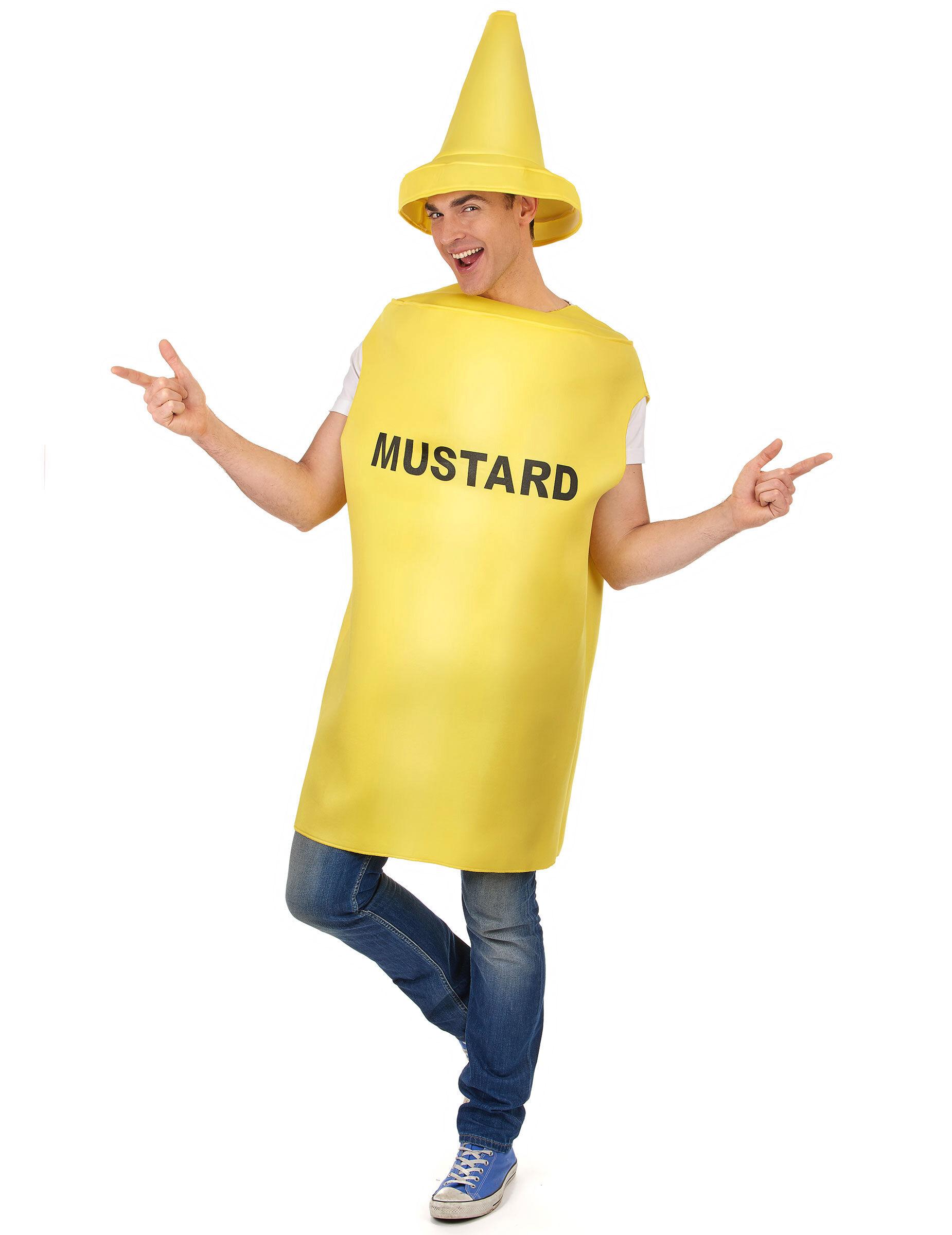 Deguisetoi Déguisement pot de moutarde adulte