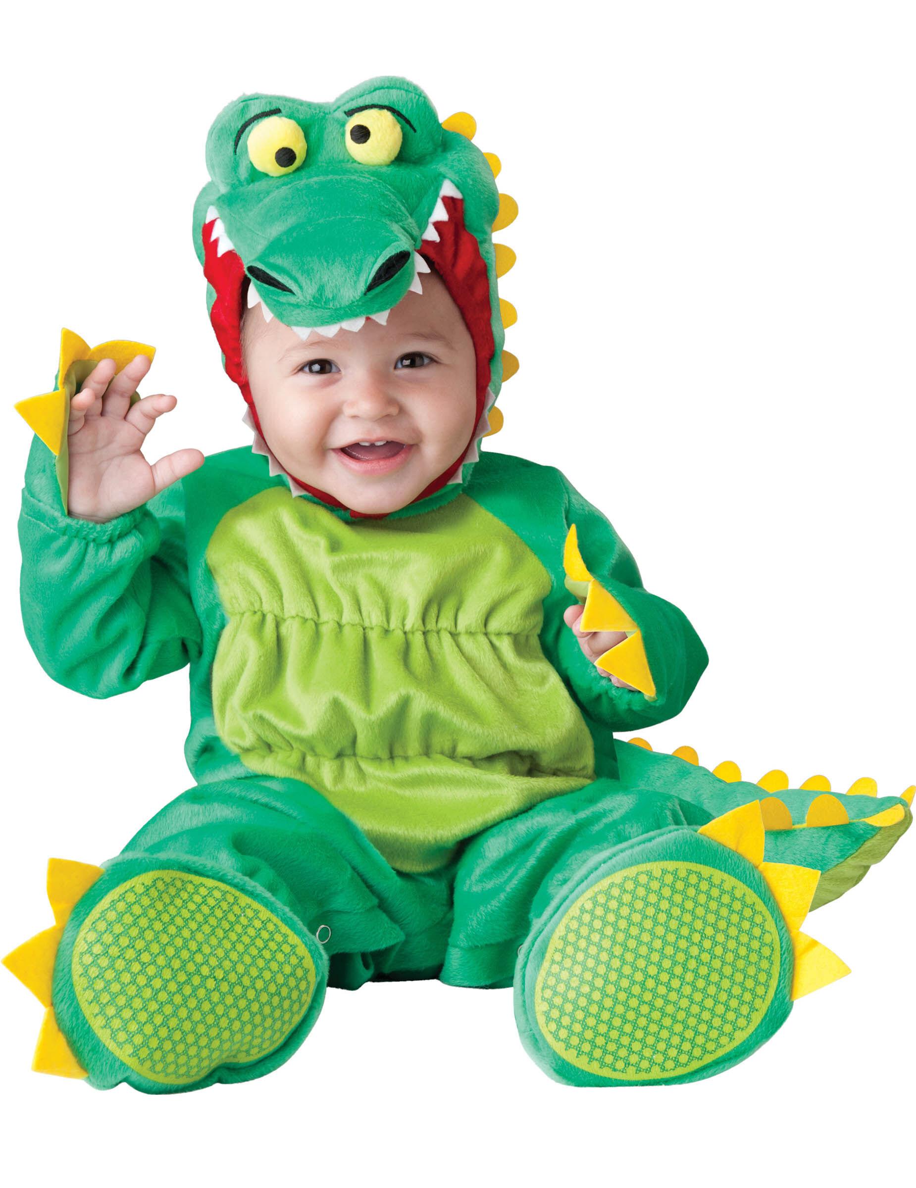 Deguisetoi Déguisement crocodile pour bébé - Luxe - Taille: 12-18 mois (74-81 cm)
