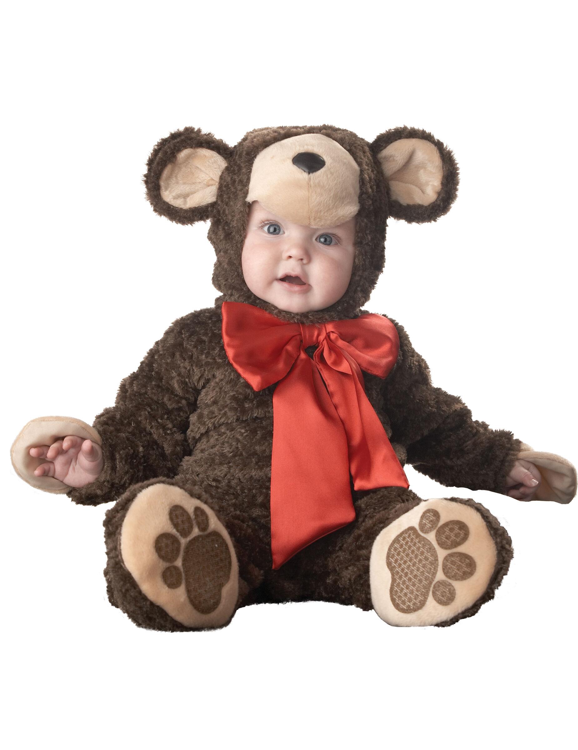 Deguisetoi Déguisement ourson pour bébé - Luxe - Taille: 6-12 mois (66-74 cm)