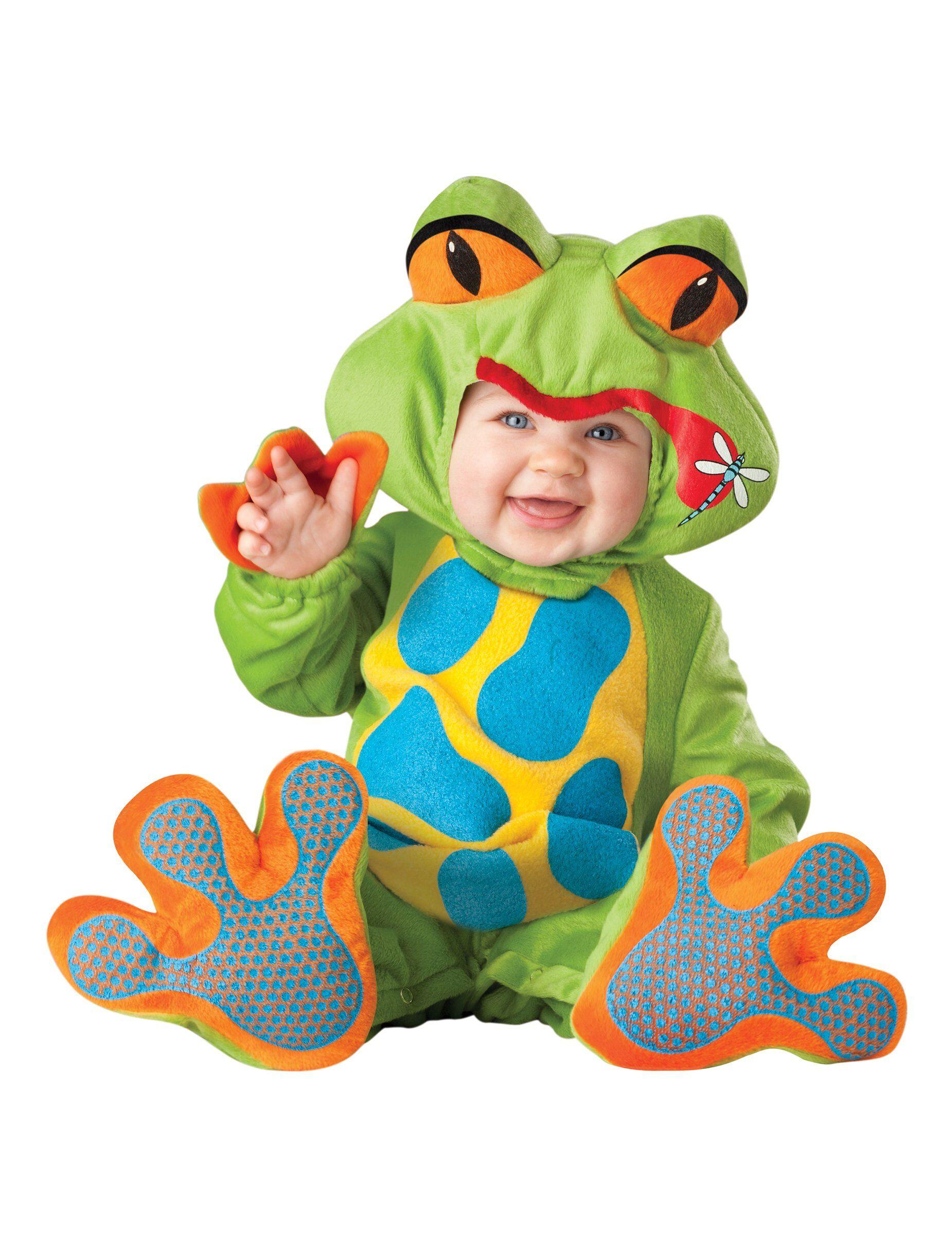 Deguisetoi Déguisement grenouille pour bébé - Premium - Taille: 6-12 mois (66-74 cm)