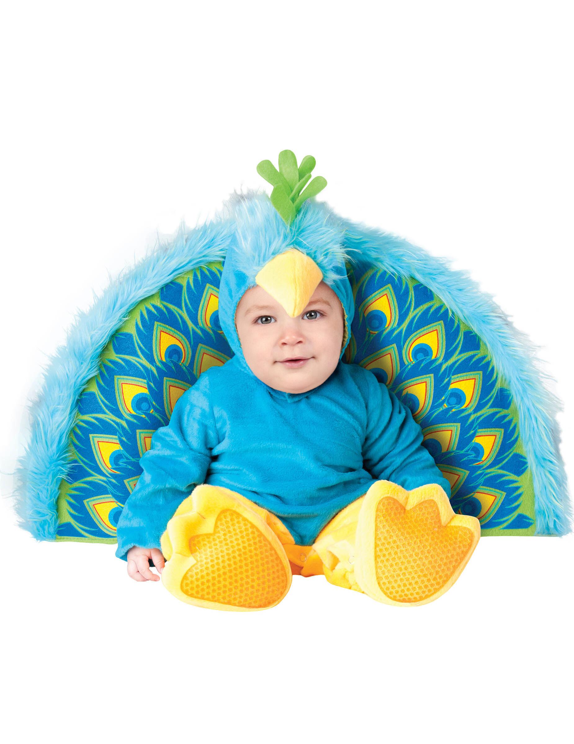 Deguisetoi Déguisement Paon pour bébé - Premium - Taille: 0-6 mois (58-66 cm)