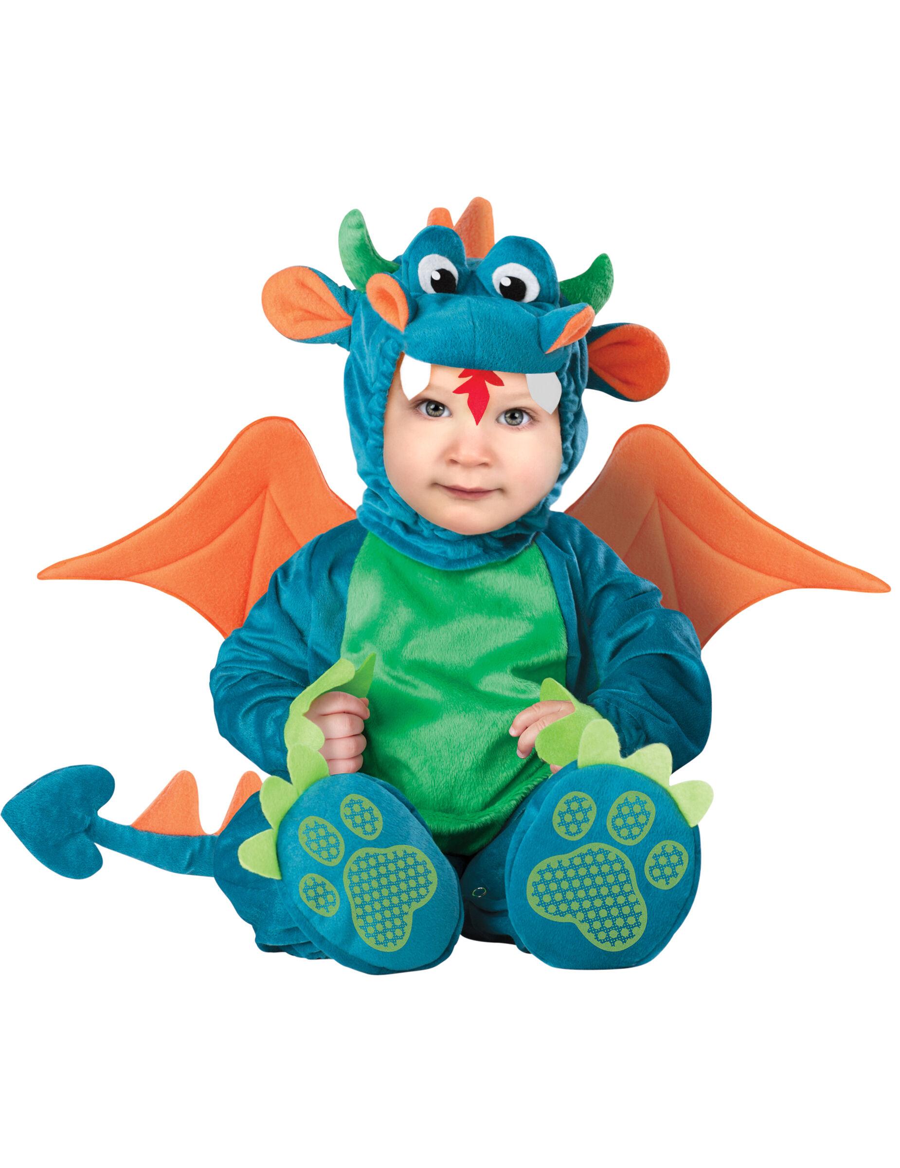 Deguisetoi Déguisement Dragon pour bébé - Luxe - Taille: 6-12 mois (66-74 cm)