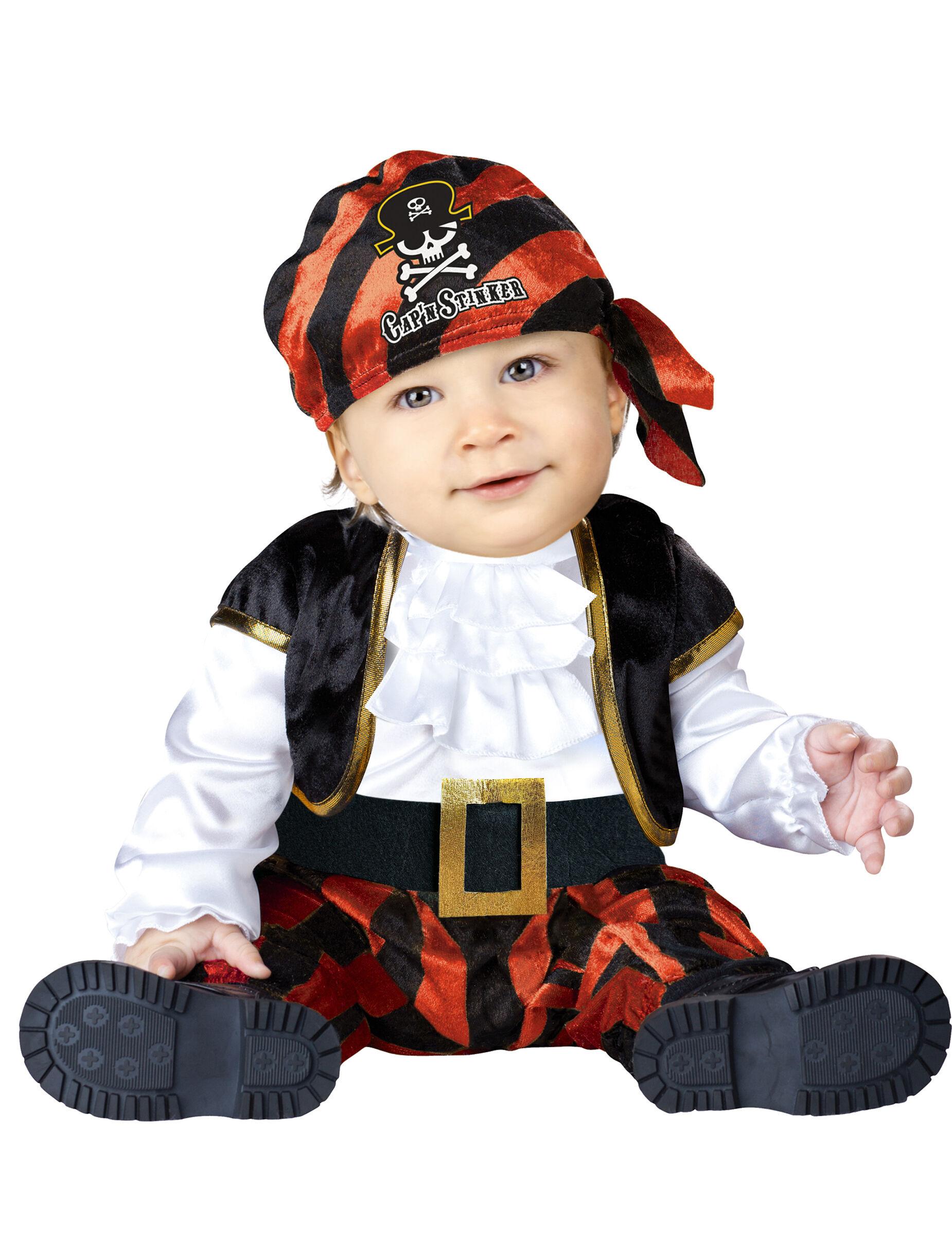 Deguisetoi Déguisement Pirate pour bébé - Classique - Taille: 0-6 mois (58-66 cm)