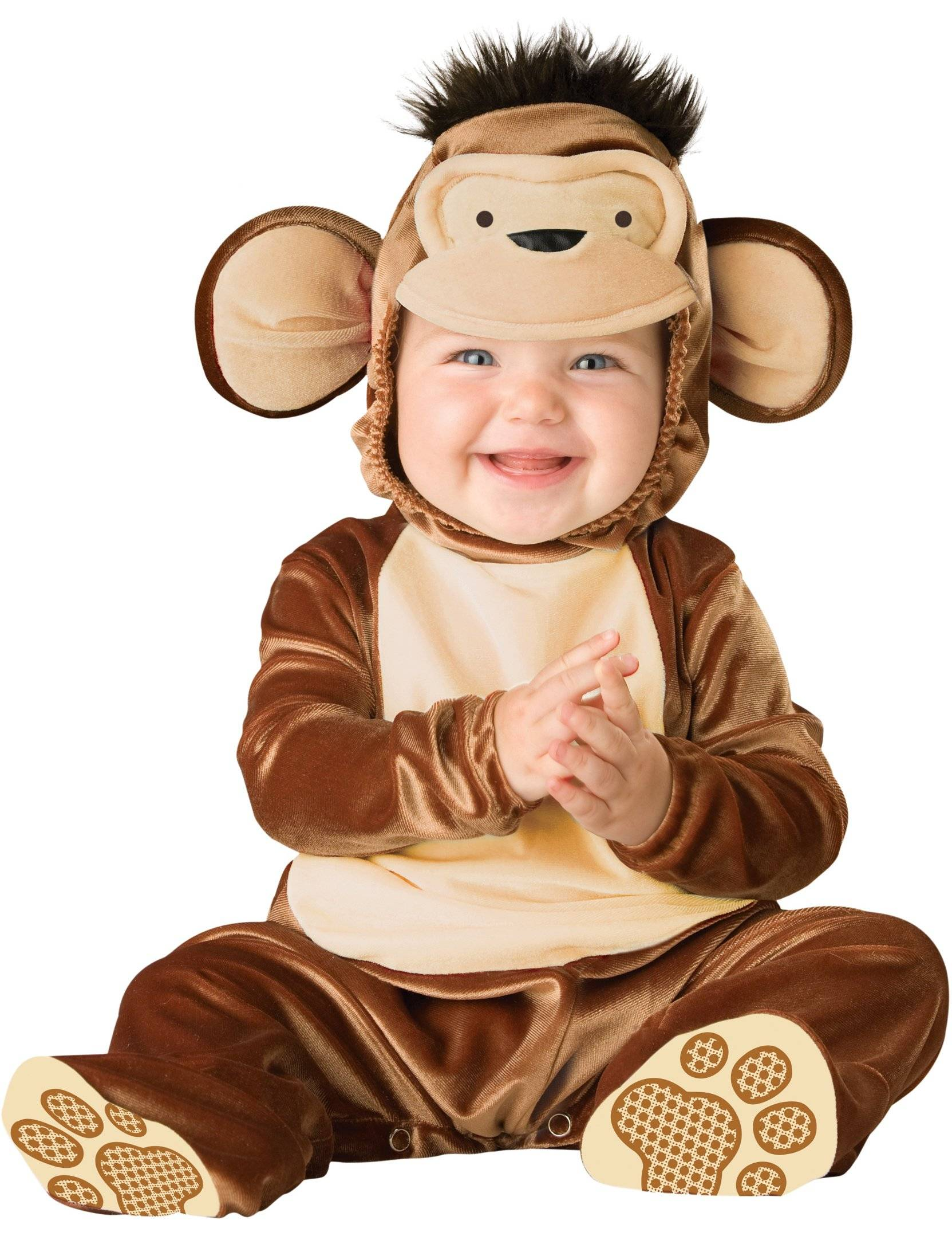 Deguisetoi Déguisement Singe pour bébé - Classique - Taille: 12-18 mois (74-81 cm)