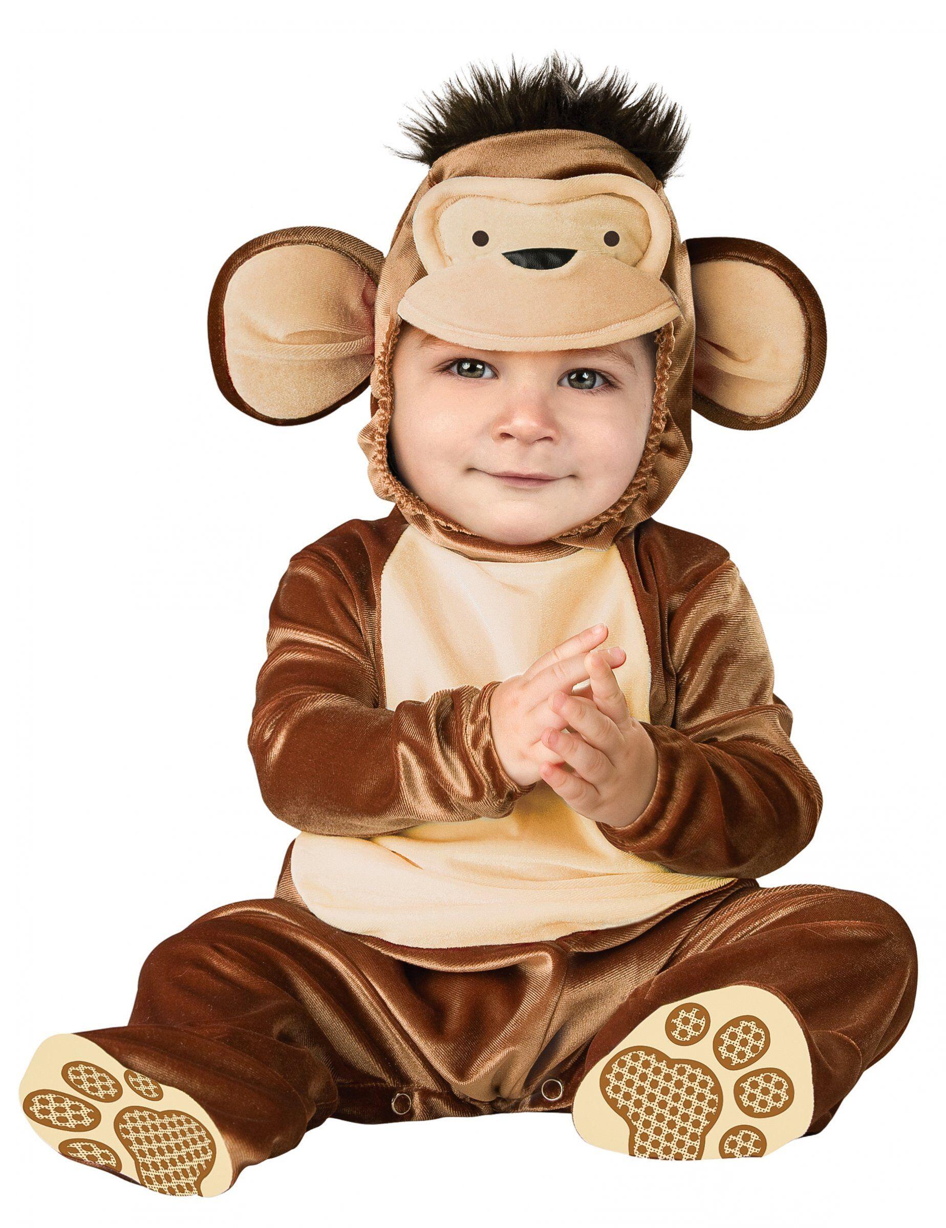Deguisetoi Déguisement Singe pour bébé - Classique - Taille: 6-12 mois (66-74 cm)