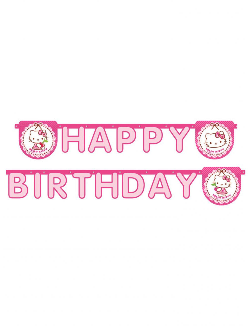 Deguisetoi 1 Guirlande Happy Birthday Hello Kitty 2 m