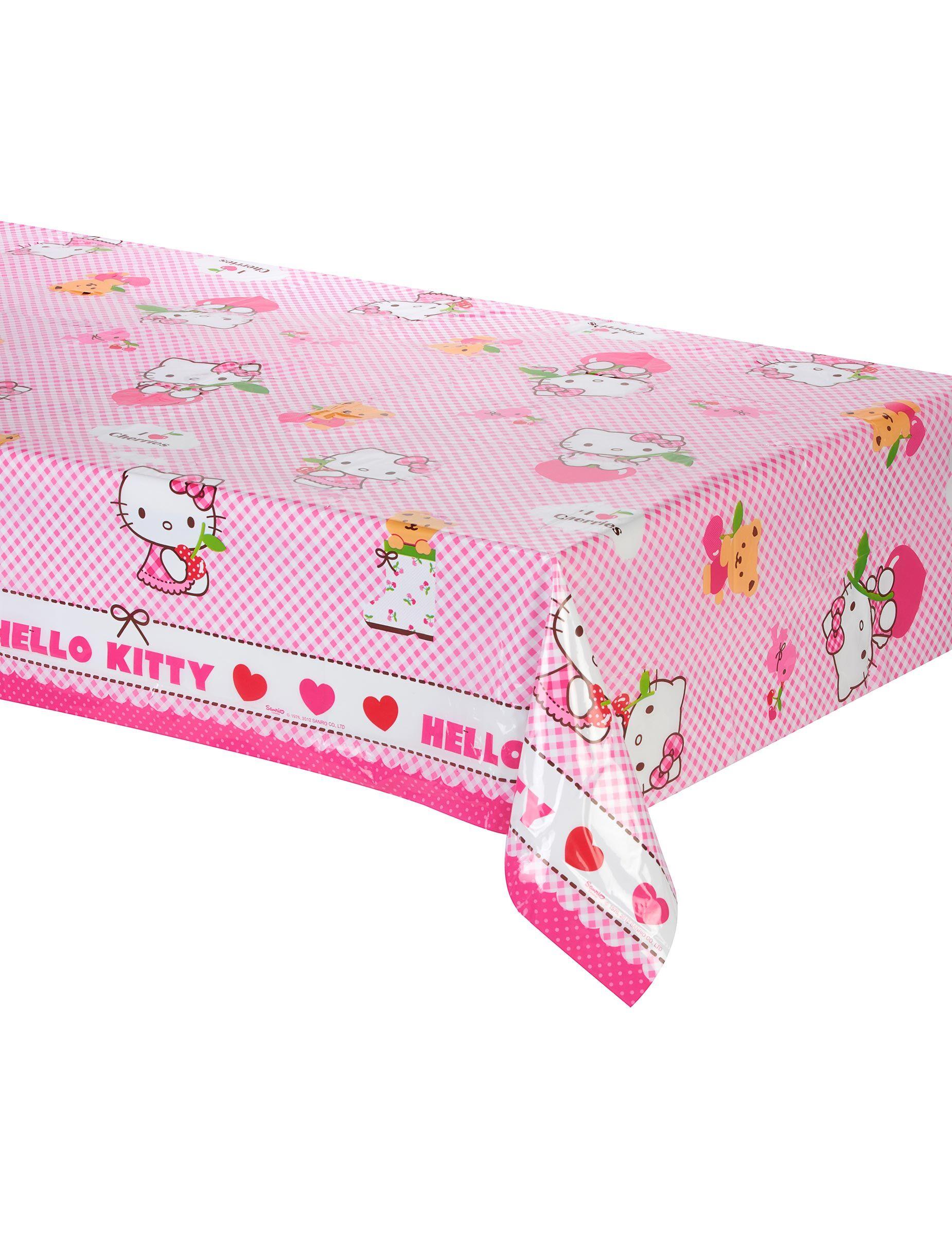 Deguisetoi Nappe en plastique Hello Kitty 120 x 180 cm