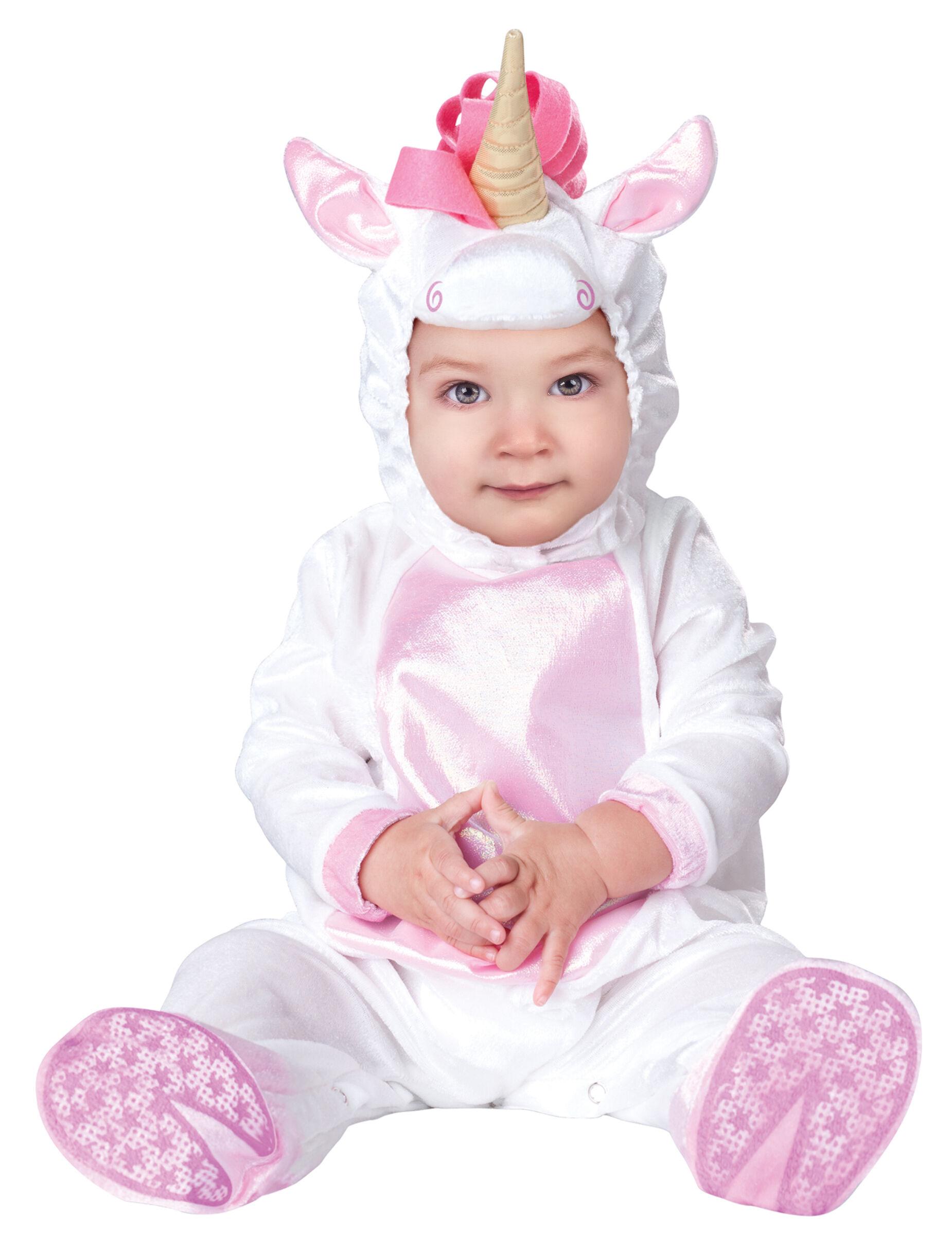 Deguisetoi Déguisement licorne pour bébé - Classique - Taille: 0-6 mois (58-66 cm)