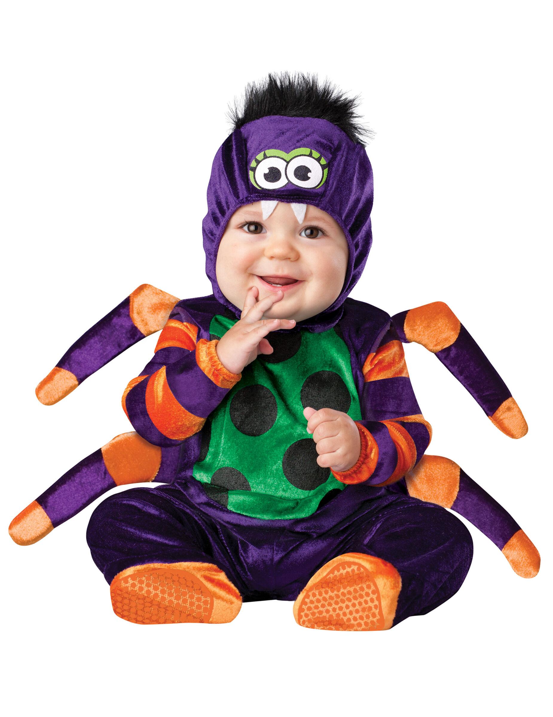 Deguisetoi Déguisement araignée pour bébé - Classique - Taille: 0-6 mois (58-66 cm)