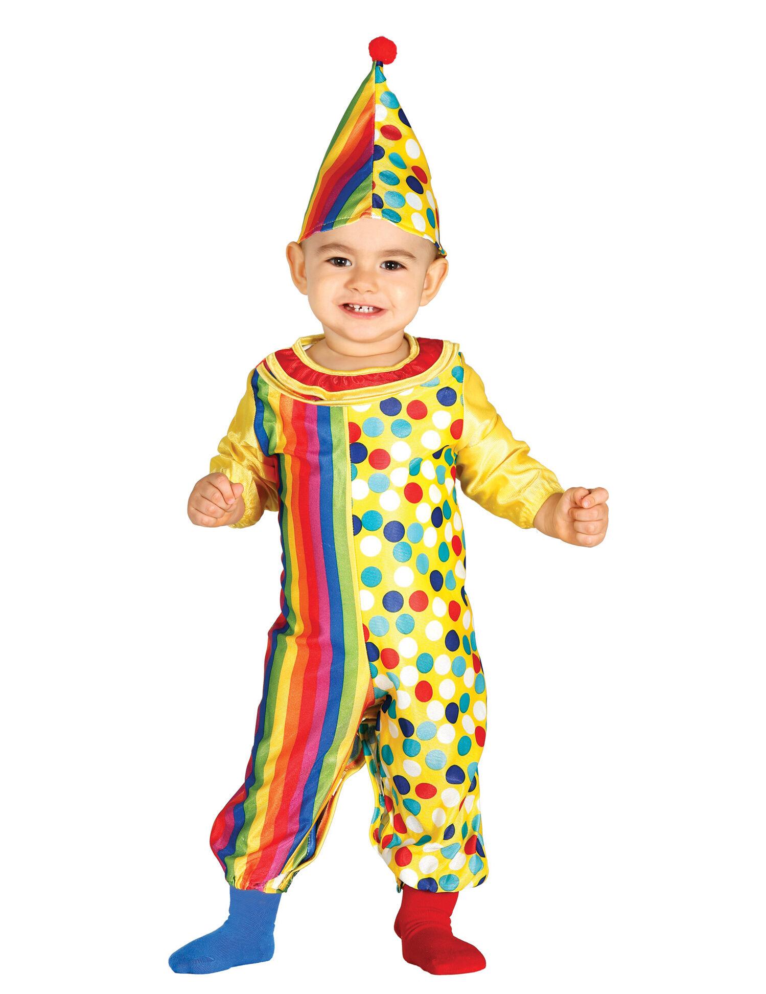 Deguisetoi Déguisement combinaison clown bébé - Taille: 6 à 12 mois (82-83 cm)