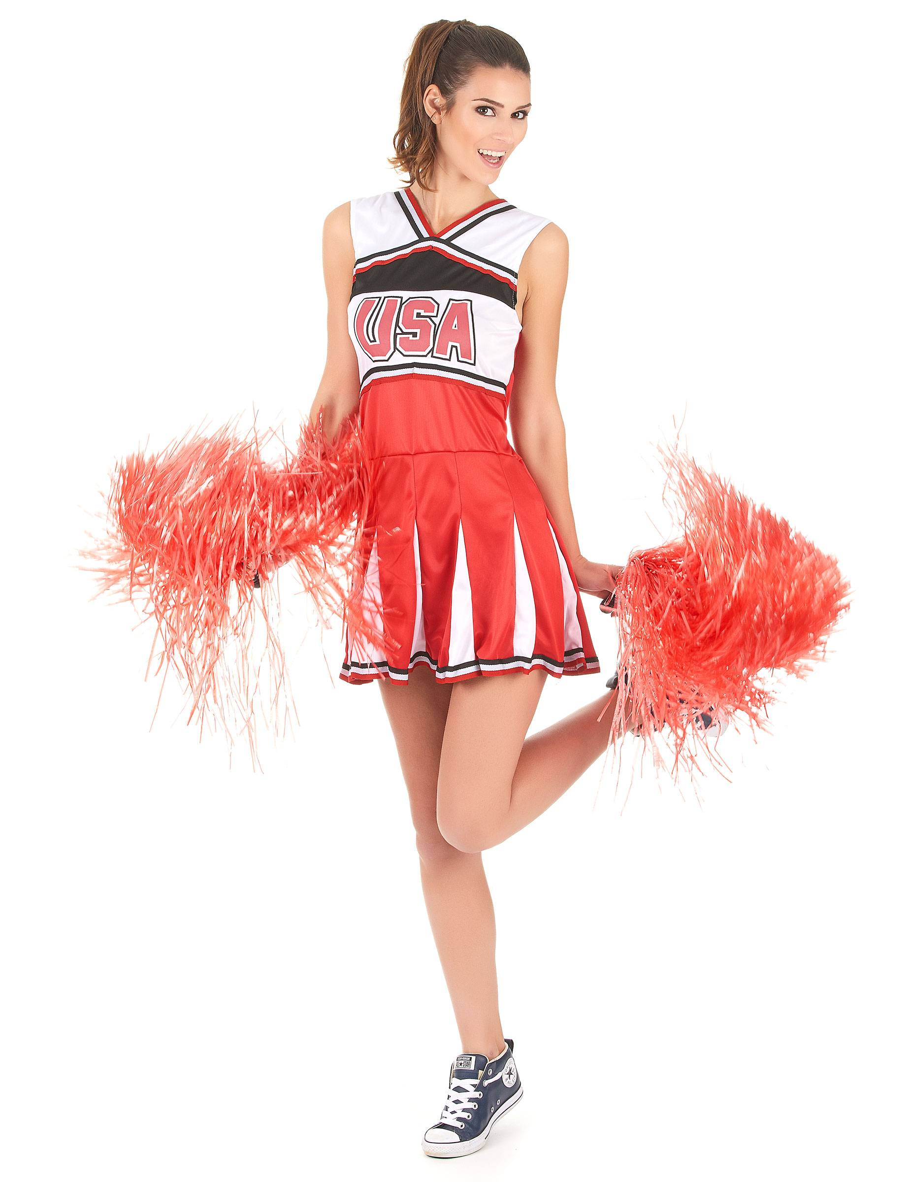 Deguisetoi Déguisement pompom girl USA femme - Taille: XS / S