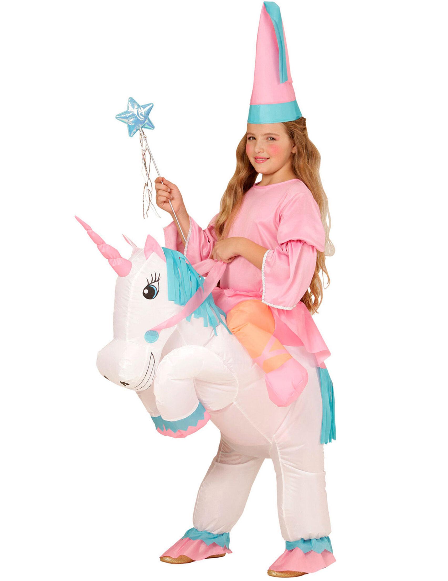 Deguisetoi Déguisement princesse à dos de licorne gonflable fille
