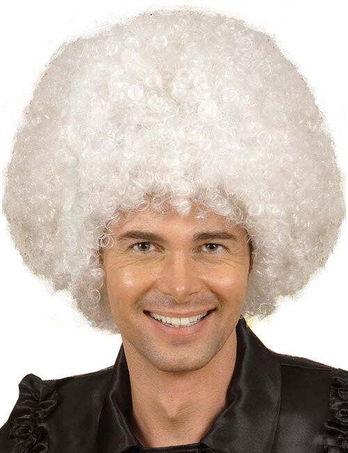 Deguisetoi Afro Wig, white