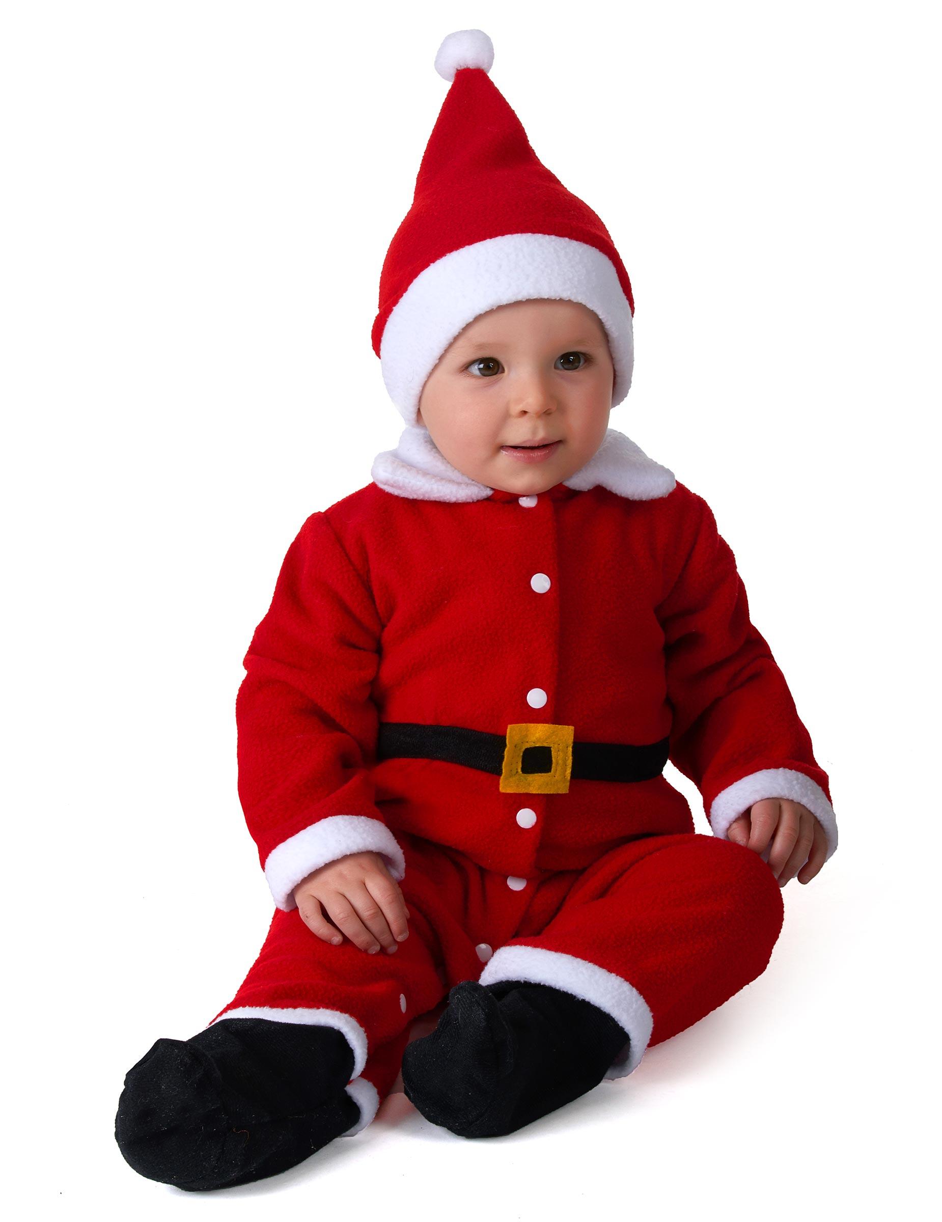 Deguisetoi Déguisement Père Noël bébé - Taille: 6 à 12 mois