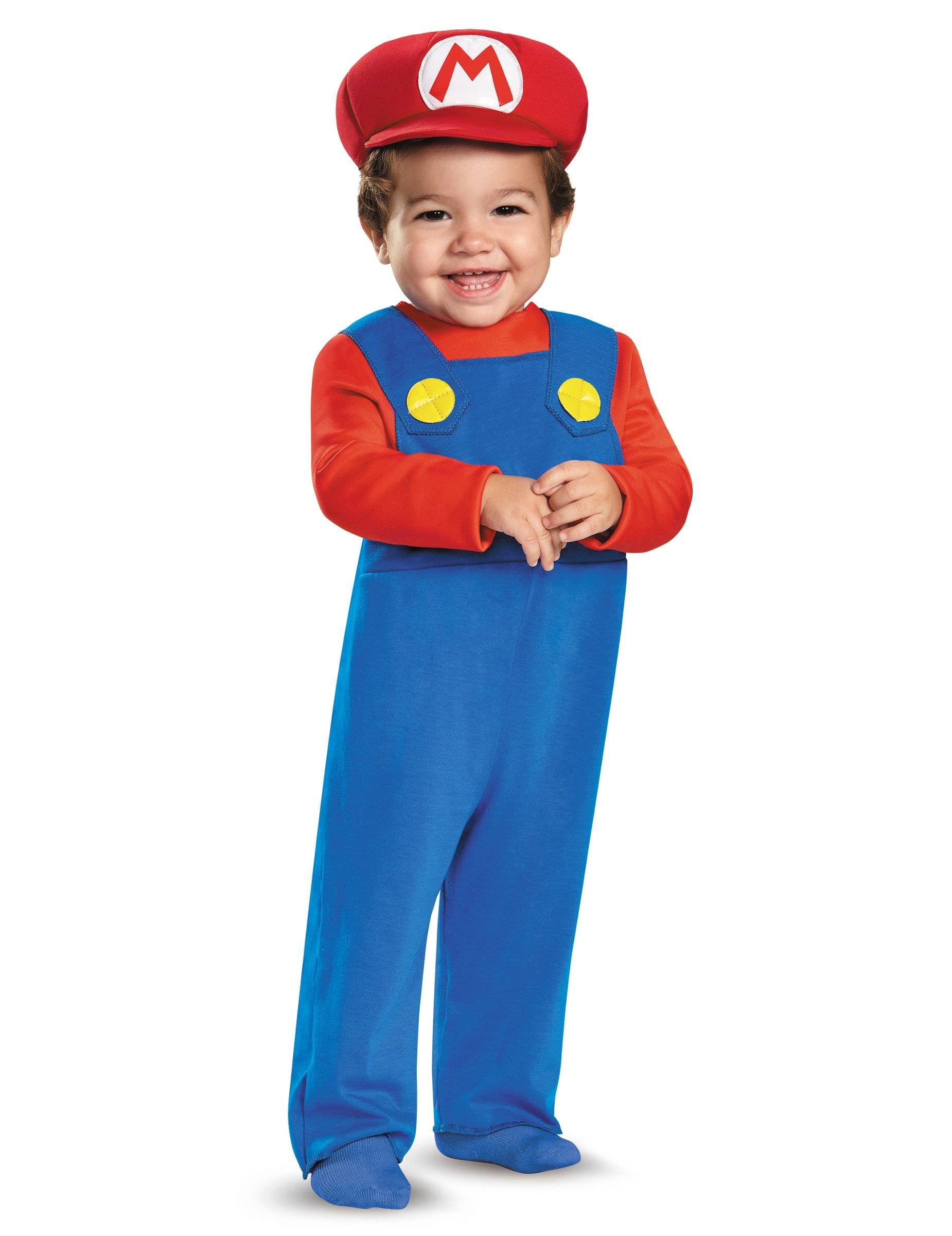 Deguisetoi Déguisement Mario bébé - Taille: 12 à 18 mois (72 - 81 cm)