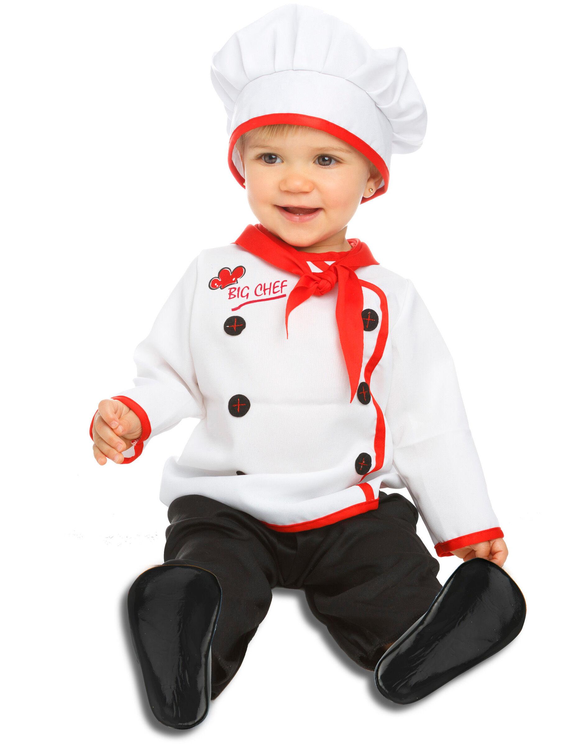 Deguisetoi Déguisement petit chef bébé - Taille: 7 - 12 mois (74 - 80 cm)