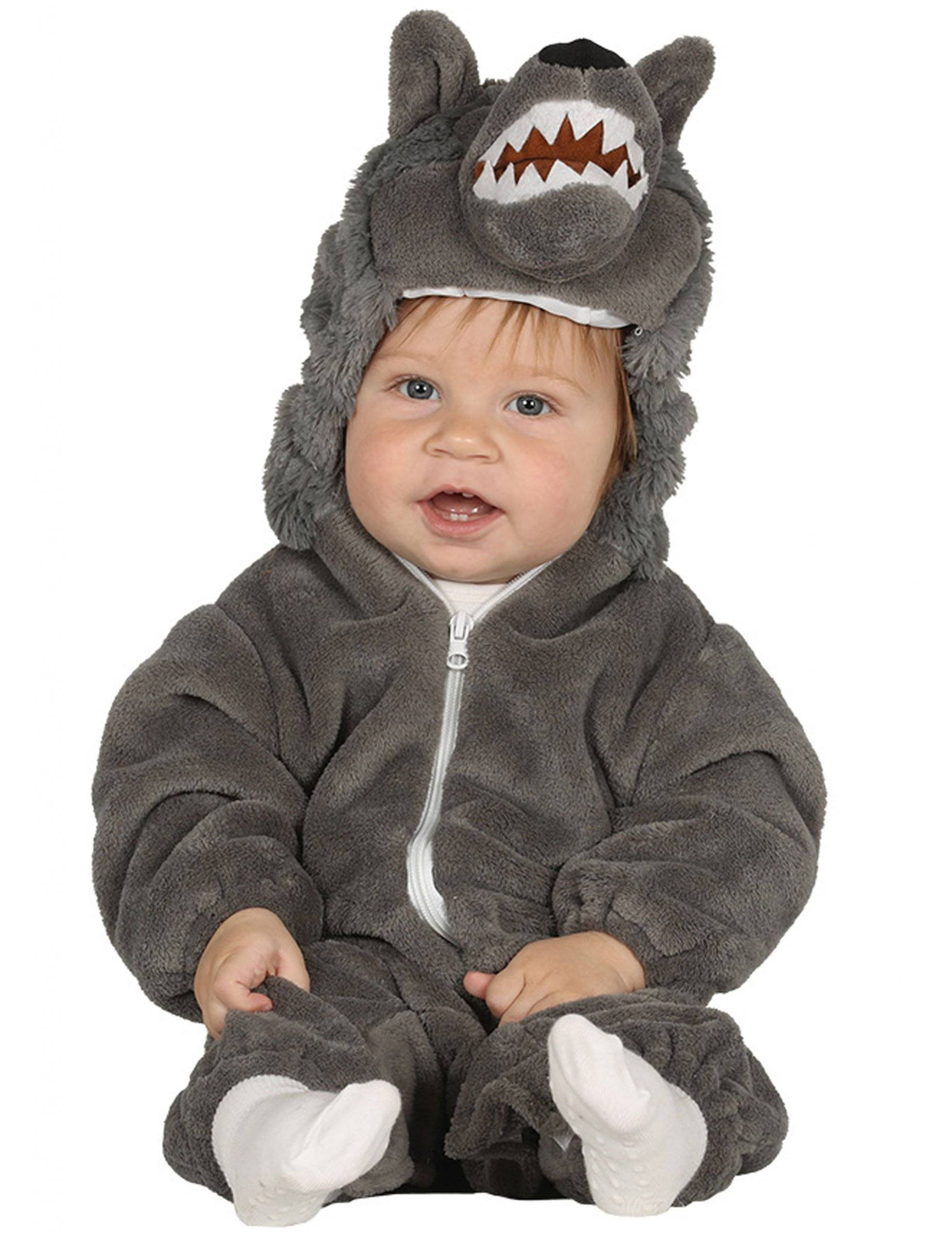 Deguisetoi Déguisement loup gris bébé - Taille: 6 à 12 mois (82-83 cm)